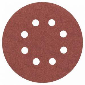 Bosch 2608605644 Disque abrasif pour ponceuse excentrique Ø 125 mm 8 Trous Grain 180 5 pièces de la marque Bosch image 0 produit