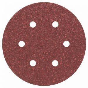 Bosch 2608605716 Disque abrasif pour Ponceuse Excentrique Ø 150 mm 6 Trous Grain 40 5 pièces, Gris, 150mm de la marque Bosch image 0 produit