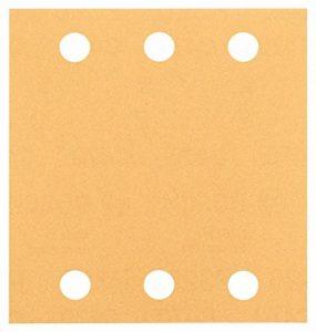 Bosch 2608607459 Feuille abrasif pour ponceuse vibrante 115 x 107 mm Grain 180 10 pièces de la marque Bosch image 0 produit