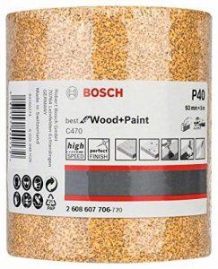 Bosch 2608607706 Rouleau abrasif en papier Largeur 93 mm Longueur 5 mm Grain 40 de la marque Bosch image 0 produit