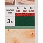 Bosch 2609256186 Set de 3 rubans abrasifs pour Ponceuse à ruban 40 x 303 mm Grain 60-80-120 x 1 de la marque Bosch image 1 produit