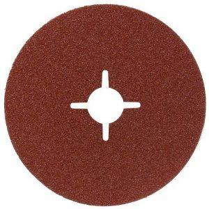 Bosch 2609256253 Disques abrasifs sur fibres pour Meuleuses angulaires Corindon Diamètre 125 mm Diamètre d'alésage 22 Grain 100 Lot de 5 feuilles de la marque Bosch image 0 produit