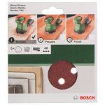 Bosch 2609256A22 Feuilles abrasives pour Ponceuses excentriques Diamètre 125 mm 8 trous Grain 40 Lot de 5 feuilles de la marque Bosch image 1 produit
