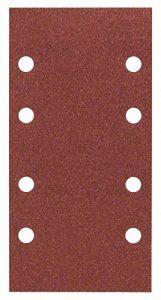 Bosch 2609256A83 Feuilles abrasives pour Ponceuses vibrantes 93 x 185 Nombre de trous 8 Grain 120 Lot de 10 feuilles de la marque Bosch image 0 produit