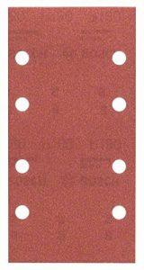Bosch 2609256A84 Feuilles abrasives pour Ponceuses vibrantes 93 x 185 Nombre de trous 8 Grain 180 Lot de 10 feuilles de la marque Bosch image 0 produit