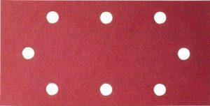 Bosch 2609256A90 Feuilles abrasives pour Ponceuses vibrantes Black + Decker 93 x 185 Nombre de trous 8 Grain 120 Lot de 10 feuilles de la marque Bosch image 0 produit