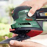 """Bosch Ponceuse multifonction """"Universal"""" sans fil PSM 18 LI outil seul sans batterie avec 3 feuilles abrasives, technologie Syneon 06033A1301 de la marque Bosch image 4 produit"""