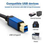 """Câble USB 3.0 Mâle A vers Mâle B - 3m - certifié USB 3.0"""" Superspeed pour imprimantes, Hubs, serveurs, disques durs externes de la marque TechImport image 2 produit"""