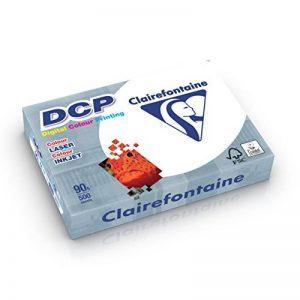 Clairefontaine 1833 Papier d'impression DCP (500 feuilles au format DIN A4 avec 90 grammes / Papier de qualité supérieure pour l'impression intensif en couleurs) Blanc de la marque Clairefontaine image 0 produit