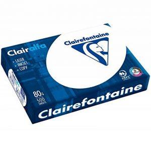 Clairefontaine 1979C Papier d'impression opaque Clairalfa (500 feuilles, A4, 21 x 29,7 cm, 80 g, idéal pour les impressions et les impressions de tous les jours) Blanc de la marque Clairalfa image 0 produit