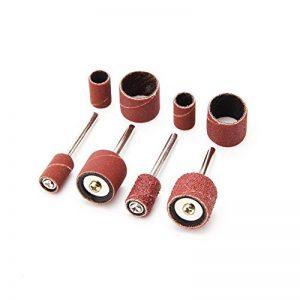 Cutogain 132Pcs Ponçage Manches abrasifs cylindres Grain 80avec mandrins Drum Kit de Ponçage de la marque Cutogain image 0 produit