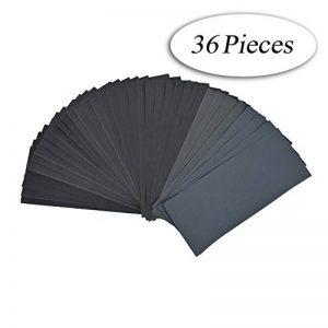 DEDC Lot de 36 Papier de Verre Papier Abrasif 228x91mm à Sec à l'Eau 400 600 800 1000 1200 1500 2000 2500 3000 4 Feuilles/Grain de la marque DEDC image 0 produit