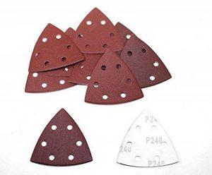 Delta Lot de 100 feuilles de papier abrasif à 6 trous Grain 80/Delta, 93 x 93 x 93 mm de la marque BoH-Warenhandel image 0 produit