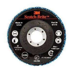 Disque abrasif non tissé 3M Scotch-Brite Clean and Strip CG-DB, Grain Extra gros, Bleu, 10 disques/carton de la marque Scotch-Brite image 0 produit
