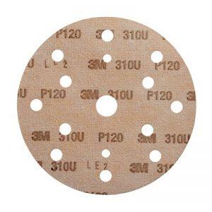 Disque abrasif support papier 3M Hookit 310U, 150 mm, Grain 120, 15 trous, 100 disques / boite de la marque 3M image 0 produit