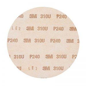 Disque abrasif support papier 3M Hookit 310U, 150 mm, Grain 240, Plein, 100 disques / boite de la marque 3M image 0 produit