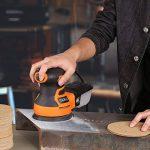 Disque de Ponçage 100pcs Tacklife Disques Abrasifs Velcro 60/80/120/150/220 Grain Taille de 125mm Idéal pour Poncer/Polir/Dérouiller   ASD04C de la marque TACKLIFE image 4 produit