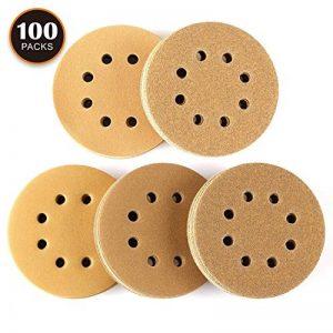 Disque de Ponçage 100pcs Tacklife Disques Abrasifs Velcro 60/80/120/150/220 Grain Taille de 125mm Idéal pour Poncer/Polir/Dérouiller | ASD04C de la marque TACKLIFE image 0 produit