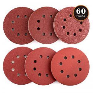 Disque de Ponçage 60pcs Tacklife Disques Abrasifs 40/60/80/120/180/240 Grain Taille de 125mm Idéal pour Poncer/ Polir/ Dérouiller   ASD03C de la marque TACKLIFE image 0 produit