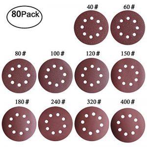 id/éal pour poncer//polir//d/érouiller pour ponceuse 10 PCS Disque de pon/çage disques abrasifs 80 grain taille de 150mm