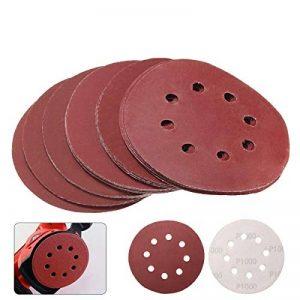 Disques de ponçage pour ponceuse orbitale, grains assortis, 12,7 cm, 8 trous, lot de 25 de la marque TOPWA image 0 produit
