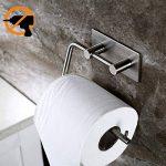 Duoue Porte Papier Toilette Mural adhesif INOX brossé étanche WC Auto adhésif Porte Rouleau dérouleur Papier Toilette pour Salle de Bain Porte Rouleau Papier Toilette de la marque Kitlit image 1 produit