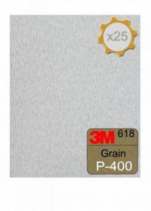 Feuille abrasive 3M 618 à sec 230x280 Grain 400 x 25 de la marque 3M image 0 produit