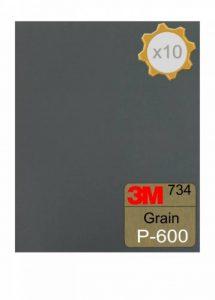 Feuille abrasive 3M 734 à l'eau 230x280 Grain 600 x 10 de la marque 3M image 0 produit