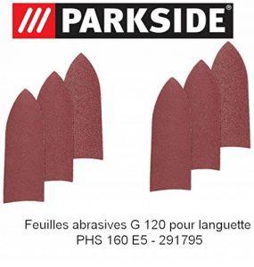 Feuilles abrasives de languette pour ponceuse triangulaire PARKSIDE PHS 160 E5 291795 pour le bois Gx120 de la marque Parkside image 0 produit