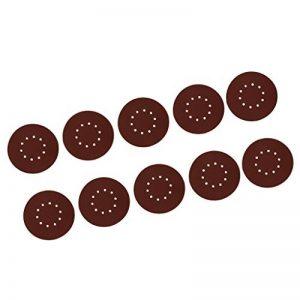 FLAMEER 10x Feuilles De Polissage Disques Dérouiller Papier Verre Grain d'oxyde d'aluminium - 180# de la marque FLAMEER image 0 produit