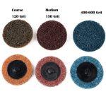 Gasea - Lot de 15 disques abrasifs de traitement de surface à changement rapide 5,1 cm - Avec support de disques Roloc - Pour retrait rouille, peinture de la marque Gasea image 1 produit