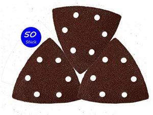 Goodway Lot de 50 triangles de meulage 93 x 93 x 93 mm, Grain 40 pour ponceuse Delta 6 trous de la marque Goodway image 0 produit