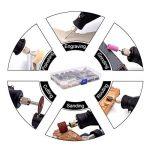 GOXAWEE 141Pcs Accessoires pour Outils Rotatifs avec 3mm Mandrin/Universels Découpage/Polissage/Perçage/Meulage/Gravure Accessoires d'mini Meuleuse & mini Perceuse pour Bricolage Artisanat de la marque GOXAWEE image 3 produit