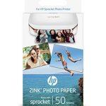 HP ZINK Papier Photo (50 feuilles, 5 x 7,6 cm, dos autocollant) de la marque HP image 1 produit