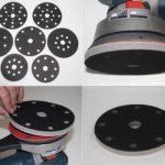 Interface mousse souple système velcro - pour plateau de ponçage 150mm avec 17 trous (Festool) - Améliore la finition, parfaitement pour les formes même complexes - DFS de la marque DFS image 1 produit