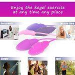 Kegel Lot de 6 haltères d'exercice recommandées pour le contrôle de la vessie et les exercices de plancher pelvien, en silicone de qualité supérieure pour les femmes : débutants et avancés. de la marque JIELUO image 1 produit
