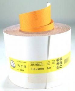 Klingspor PL31B-3229 Rouleau de papier de verre Grain 240 50 m x 115 mm de la marque Klingspor image 0 produit