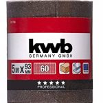 KWB Rouleau de papier abrasif corindon (pour métal et bois, 93 mm x 5 m), 8177-06 de la marque kwb image 1 produit