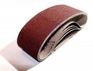 Lot de 10bandes abrasives 75x 533, grain 60–Tissu pour ponceuse à bande/Papier abrasif/bandes abrasives de la marque S&S-Shop image 0 produit