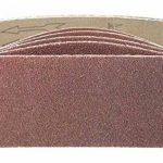 Lot de 10 bandes abrasives de 100 x 560-Pour ponceuse à bande-Assortiment de grains mélangé: 40, 60, 80, 120 et 180-En tissu renforcé de la marque TD-Warenhandel image 1 produit