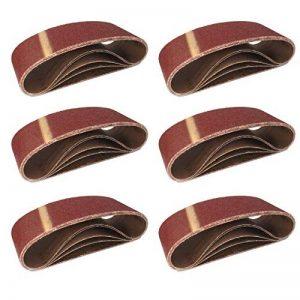 Lot de 10 bandes abrasives en tissu grain 120 pour ponceuse à bande 75 x 457 mm de la marque FD-Workstuff image 0 produit