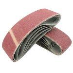 Lot de 10 bandes abrasives en tissu grain 120 pour ponceuse à bande 75 x 457 mm de la marque FD-Workstuff image 1 produit