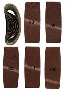 Lot de 10 bandes abrasives Premium 75 x 533 mm, 2 x grain 40,60,80,120,180 mélangés I Meuleuse à bande I 75 x 533 mm de la marque Goodway image 0 produit