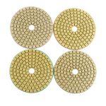 Lot de 10 disques abrasifs à poncer avec 1 plateau de ponçage - pour le marbre, le granit, le béton, la pierre - 8cm de diamètre - Grain: 50/100/150/300/500/800/1000/1500/2000/3000 de la marque HALJIA image 2 produit