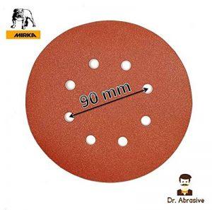 Lot de 10 disques de ponçage 180 mm 8 trous pour Workzone Aldi (modèle 710W/850W) Qualité 413 MiRKA P80 de la marque Mirka image 0 produit