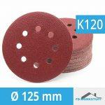 Lot de 100 disques abrasifs Ø 125 mm - Grain 120 pour ponceuse excentrique de 8 trous de la marque FD-Workstuff image 3 produit
