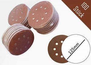 Lot de 100 disques abrasifs Ø 125 mm - Grain 80 avec fixation en Nylon pour ponceuse excentrique de la marque FD-Workstuff image 0 produit