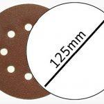 Lot de 100 disques abrasifs Ø 125 mm - Grain 80 avec fixation en Nylon pour ponceuse excentrique de la marque FD-Workstuff image 2 produit