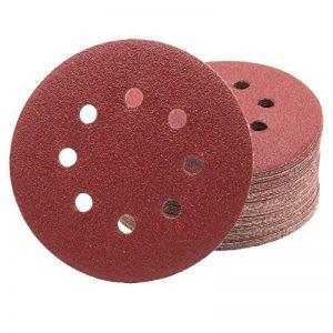 Lot de 100 disques abrasifs Papier abrasif Ø 125 mm Grain 150 Ponceuse excentrique de 8 trous de la marque FD-Workstuff image 0 produit