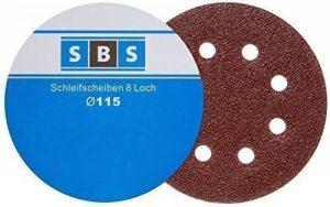 Lot de 100 disques de ponçage vitesse ponceuse Diamètre 115 mm Grain 80 pour Ponceuse orbitale à 8 trous de la marque SBS-Schlößer-Baustoffe image 0 produit